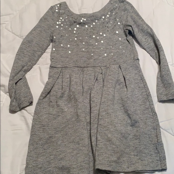 Gap Girls Small 6-7 Navy Blue Floral Lightweight Sweatshirt Dress Nwt